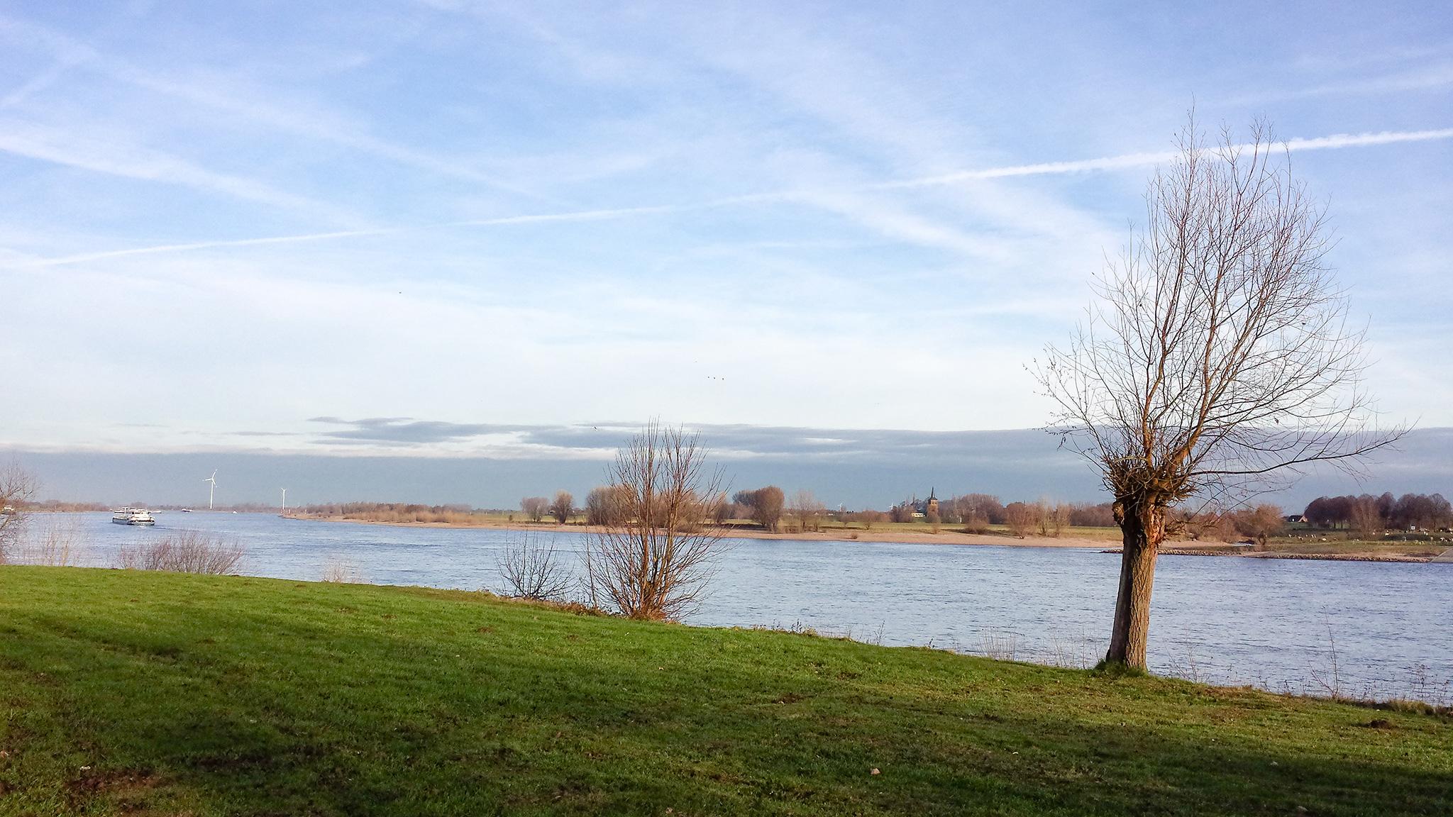 Der Rhein in Xanten
